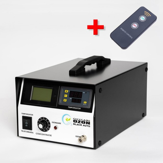 Generator Ozon AUTO 12V/220V Black cu temporizator electronic  și telecomandă, 3g ozon/ h