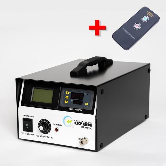 Generator Ozon profesional OxyCare Black 5 cu temporizator electronic și telecomandă, 5g ozon/ h