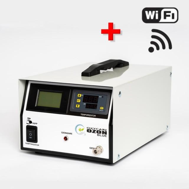 Generator Ozon pentru uz gospodăresc OxyCare Blue 3 cu temporizator electronic și control WiFi, 3g ozon/ h