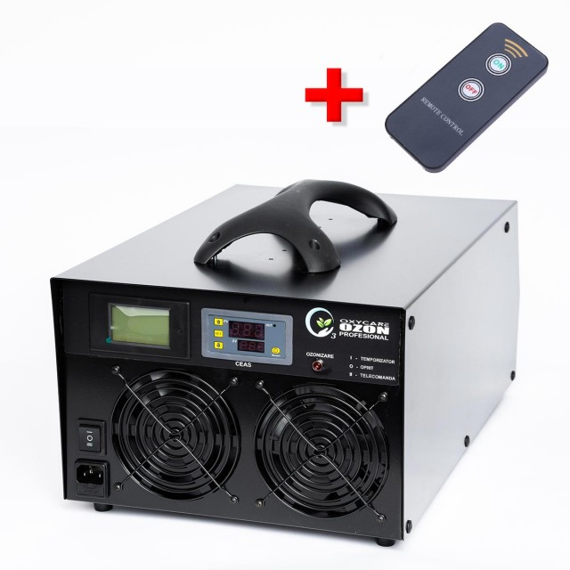 Generator Ozon OxyCare Profesional H180 cu temporizator electronic și telecomandă, 180g ozon/ h